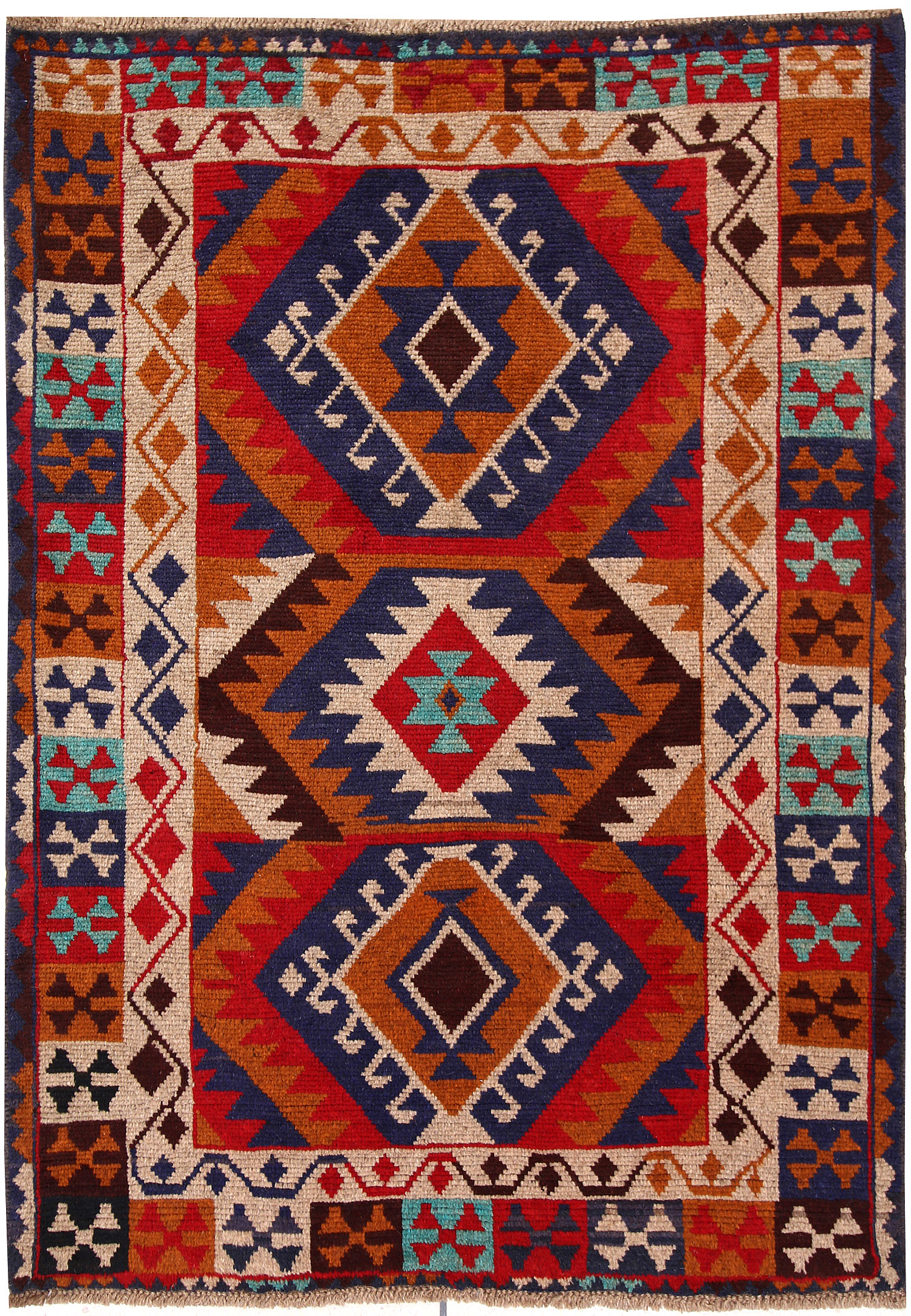 Multi Colored Baluchi 4' 2 x 5' 9 - No. 63992
