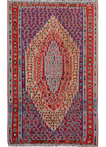 Multi Colored Senneh Kurdi 5' 1 x 8' - No. 15433
