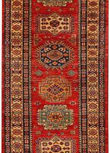 Firebrick Firebrick Oriental Kazak Runner 2' 7 x 7' 5 - No. 26448