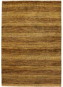 Dark Goldenrod Gabbeh 4' x 5' 11 - No. 33893