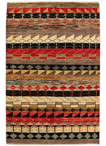 Multi Colored Gabbeh 4' x 6' - No. 34005