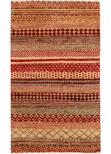 Multi Colored Gabbeh 3' 1 x 5' 1 - No. 34007