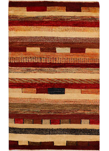 Multi Colored Gabbeh 3' 1 x 5' - No. 34015