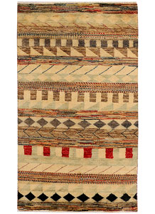 Multi Colored Gabbeh 2' 11 x 5' 3 - No. 34019