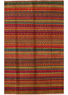 Multi Colored Gabbeh 6' x 9' 1 - No. 34265