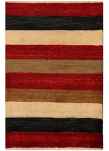 Multi Colored Gabbeh 2' 1 x 3' - No. 34291