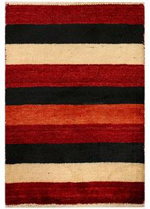 Multi Colored Gabbeh 2' 1 x 3' - No. 34292