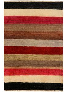 Multi Colored Gabbeh 2' 1 x 3' - No. 34335