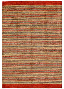 Multi Colored Gabbeh 5' 6 x 8' 1 - No. 34423