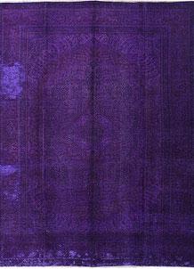 Rebecca Purple Overdyed 9' 10 x 12' 4 - No. 37526