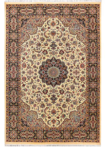 Cornsilk Kashan 6' 1 x 8' 11 - No. 37706