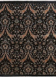 Black Ikat 9' 1 x 9' 3 - No. 37780