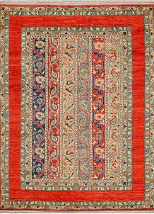 Multi Colored Shawl 5' 1 x 6' 9 - No. 38004