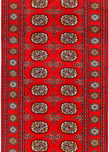 Dark Red Bokhara 3' x 6' - No. 41481