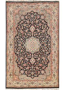 Black Isfahan 4' 6 x 7' 3 - No. 44756