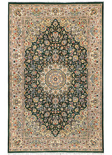 Darkgreen Kashan 5' x 8' 1 - No. 44787