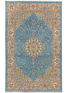 Light Sky Blue Kashan 5' x 8' 1 - No. 44791