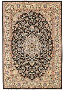 Black Isfahan 6' 1 x 9' 1 - No. 44815