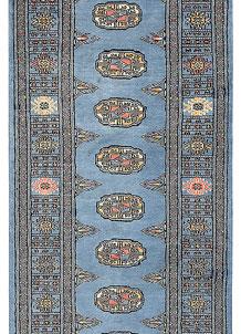 Steel Blue Bokhara 2' 5 x 6' 8 - No. 45019