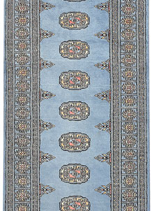 Light Slate Grey Bokhara 2' 6 x 6' 6 - No. 45060