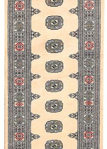 Antique White Bokhara 2' 7 x 10' 2 - No. 45465
