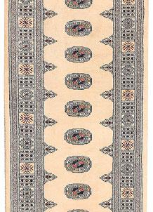 Antique White Bokhara 2' 7 x 10' - No. 45546