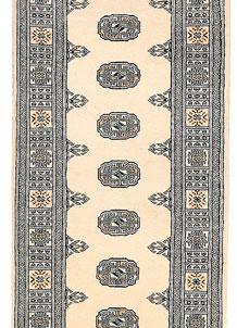 Ivory Bokhara 2' 6 x 10' 5 - No. 45557