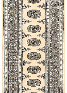 Ivory Bokhara 2' 6 x 10' 3 - No. 45572