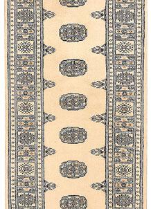 Antique White Bokhara 2' 6 x 10' 4 - No. 45583
