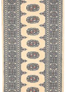 Antique White Bokhara 2' 6 x 9' 6 - No. 45587