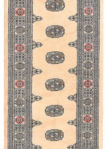Antique White Bokhara 2' 7 x 10' 7 - No. 45594