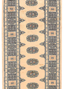Antique White Bokhara 2' 7 x 10' 3 - No. 45603