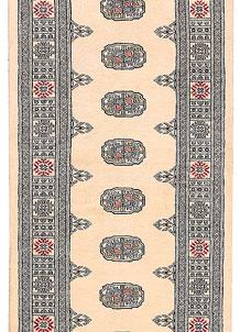 Antique White Bokhara 2' 7 x 10' 8 - No. 45606