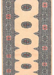 Antique White Bokhara 2' 7 x 10' 9 - No. 45610