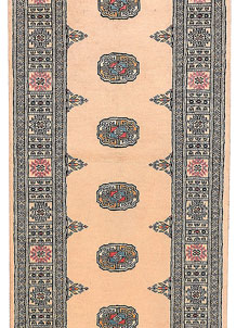 Antique White Bokhara 2' 7 x 11' 1 - No. 45660