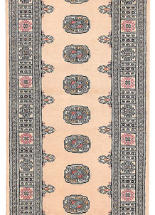 Antique White Bokhara 2' 7 x 10' 8 - No. 45669
