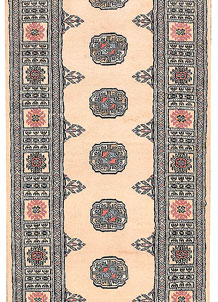 Antique White Bokhara 2' 6 x 11' 10 - No. 45712