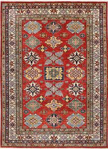 Indian Red Kazak 4' 11 x 6' 9 - No. 47933