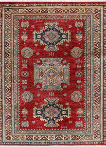 Dark Red Kazak 5' 1 x 6' 6 - No. 47953