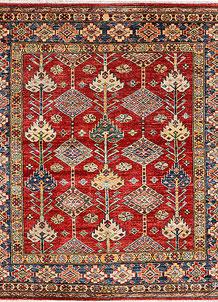 Firebrick Kazak 4' 9 x 4' 11 - No. 47992