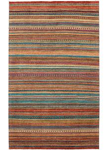 Multi Colored Gabbeh 6' 6 x 10' 8 - No. 48295