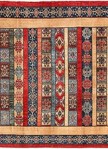 Multi Colored Shawl 7' 10 x 6' 5 - No. 53191