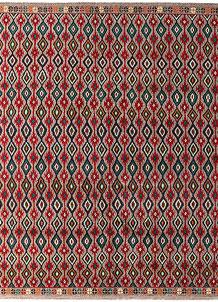 Multi Colored Baluchi 6' 2 x 6' 8 - No. 54194