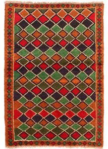 Multi Colored Baluchi 2' 8 x 3' 9 - No. 54858