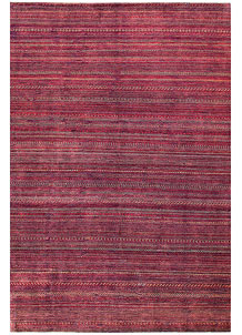 Pale Violet Red Gabbeh 6' 6 x 9' 6 - No. 55865