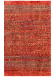 Orange Red Gabbeh 3' 1 x 4' 10 - No. 56449