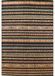 Multi Colored Gabbeh 6' 6 x 9' 8 - No. 56530
