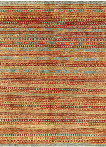 Multi Colored Gabbeh 6' 4 x 6' 4 - No. 56539