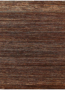 Saddle Brown Gabbeh 6' 6 x 7' 10 - No. 56573