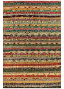 Multi Colored Gabbeh 5' 5 x 8' - No. 56586